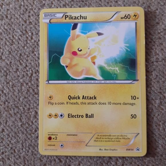 POKEMON PROMO CARD - BLACK AND WHITE - PIKACHU BW5
